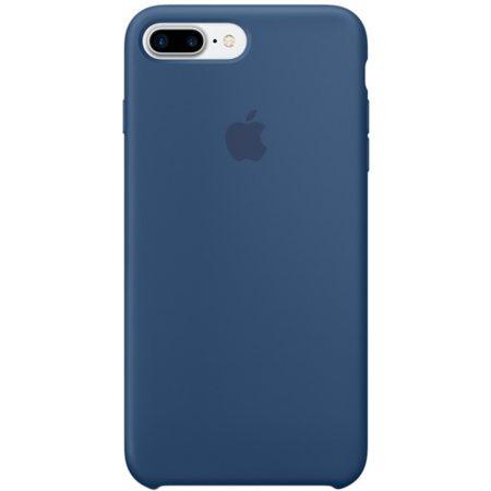 Силиконовый чехол для iPhone7/8Plus, цвет«глубокийсиний»
