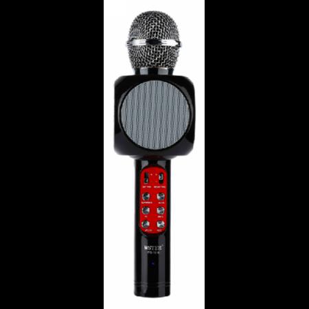 Беспроводной караоке микрофон со встроенной колонкой Wster WS-1816 (черный)