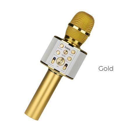 Караоке микрофон Hoco BK3 Cool sound, золотой