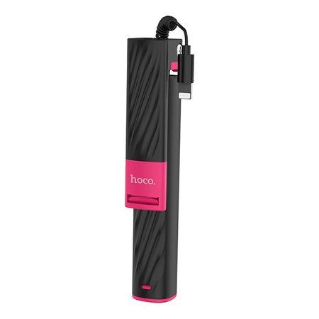 Монопод Hoco K8 с проводом Lightning для iPhone, черный
