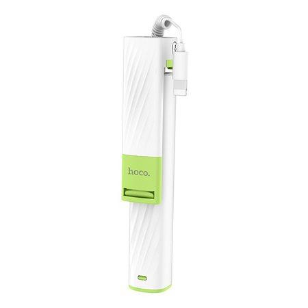 Монопод Hoco K8 с проводом Lightning для iPhone, белый
