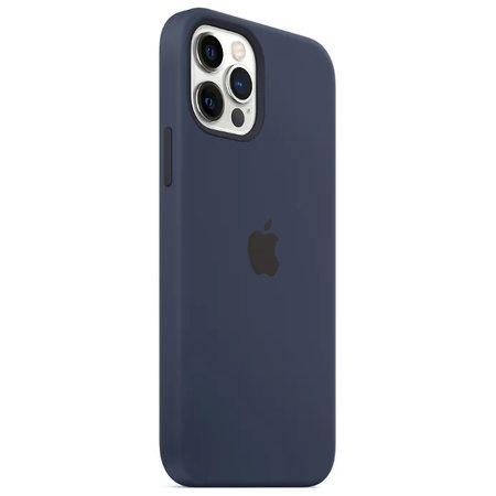 """Силиконовый чехол для iPhone 12 Pro Max, """"Тёмный ультрамарин"""""""