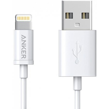 Кабель для iPod, iPhone, iPad Anker Powerline USB - Lightning 0.9m (A7101H22) White