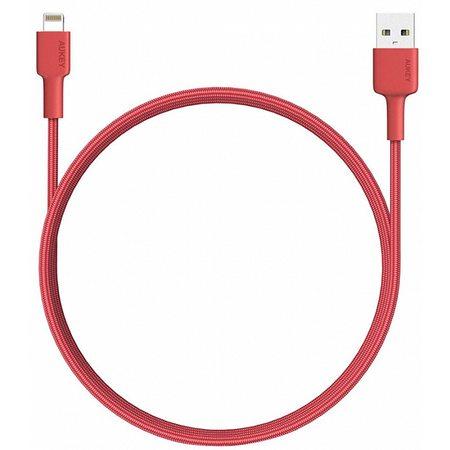 Кабель-переходник Aukey USB to Lightning 1.2m (CB-BAL3) Red