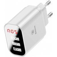 Сетевое зарядное устройство Baseus Mirror Lake Intelligent Digital Display (CCALL-BH02), White