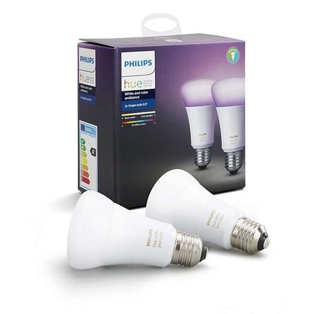 Умная лампа Philips Hue White and Color Ambiance E27 (2 штуки)