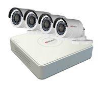 Уличный комплект видеонаблюдения HiWatch — 4 камеры 2мп